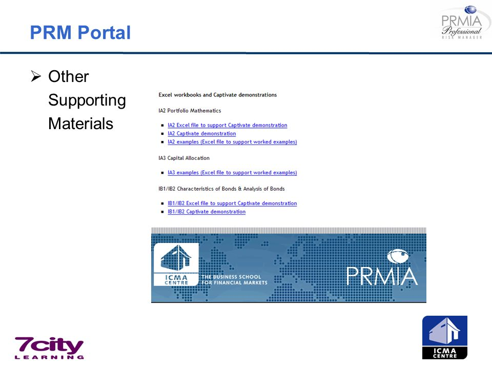PRM Portal Other Supporting Materials