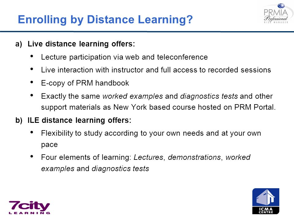 Enrolling by Distance Learning
