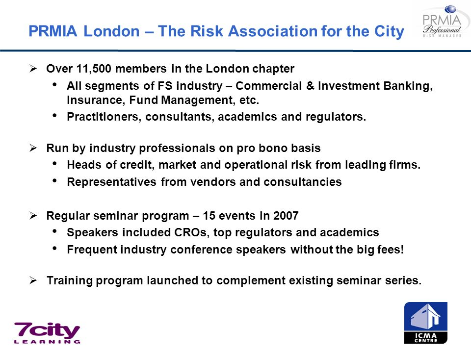 PRMIA London – The Risk Association for the City
