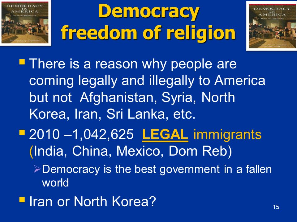 Democracy freedom of religion