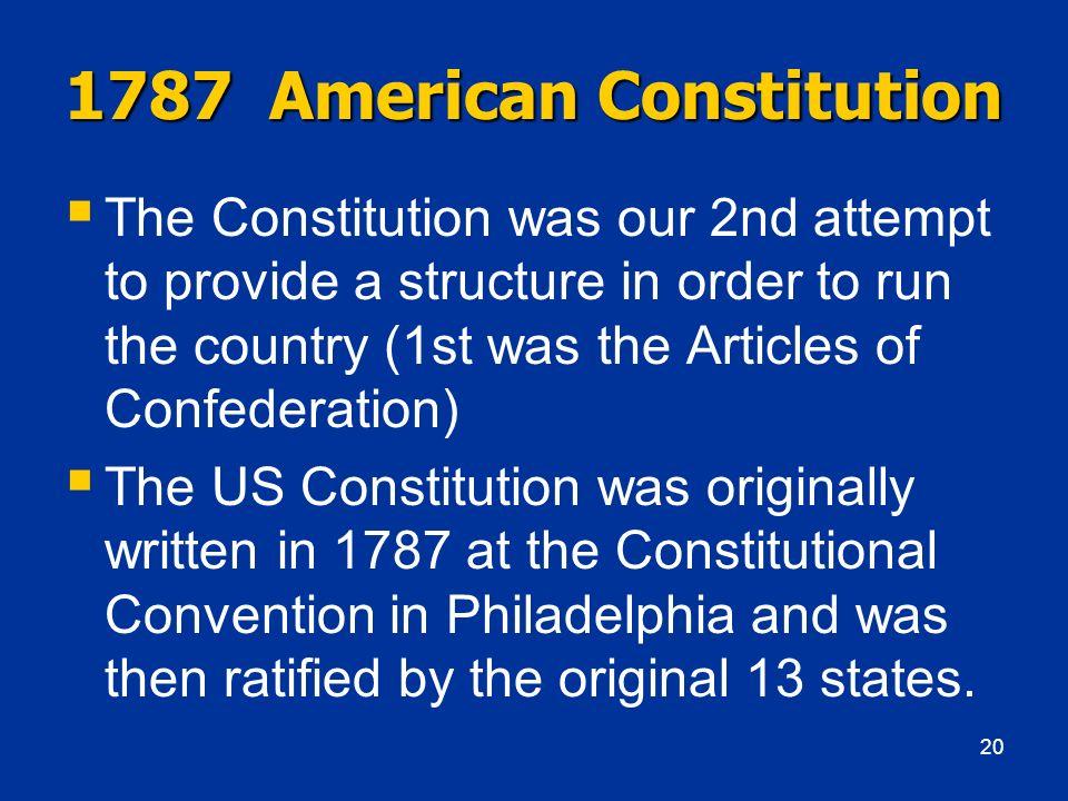 1787 American Constitution