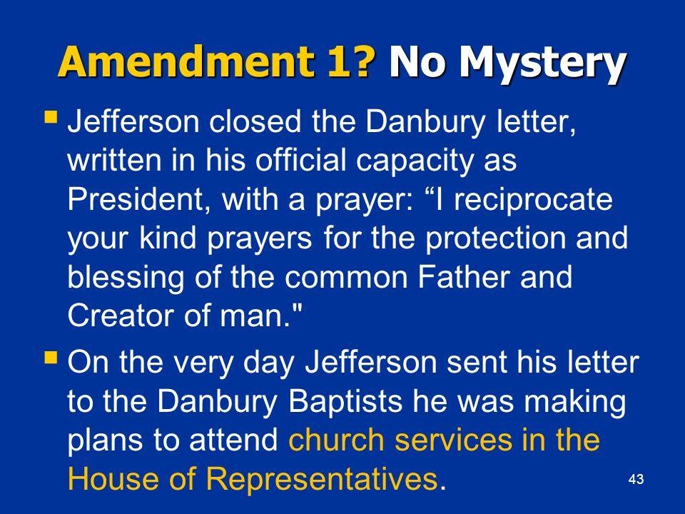 Amendment 1 No Mystery