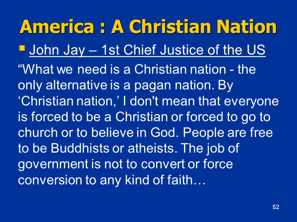 America : A Christian Nation