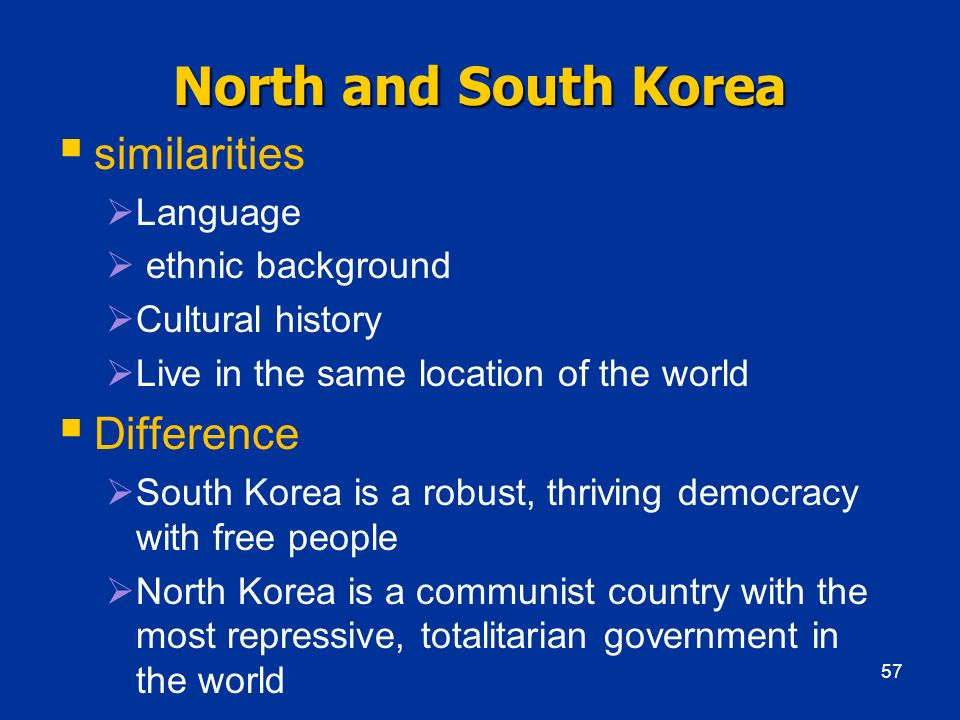 North and South Korea similarities Difference Language