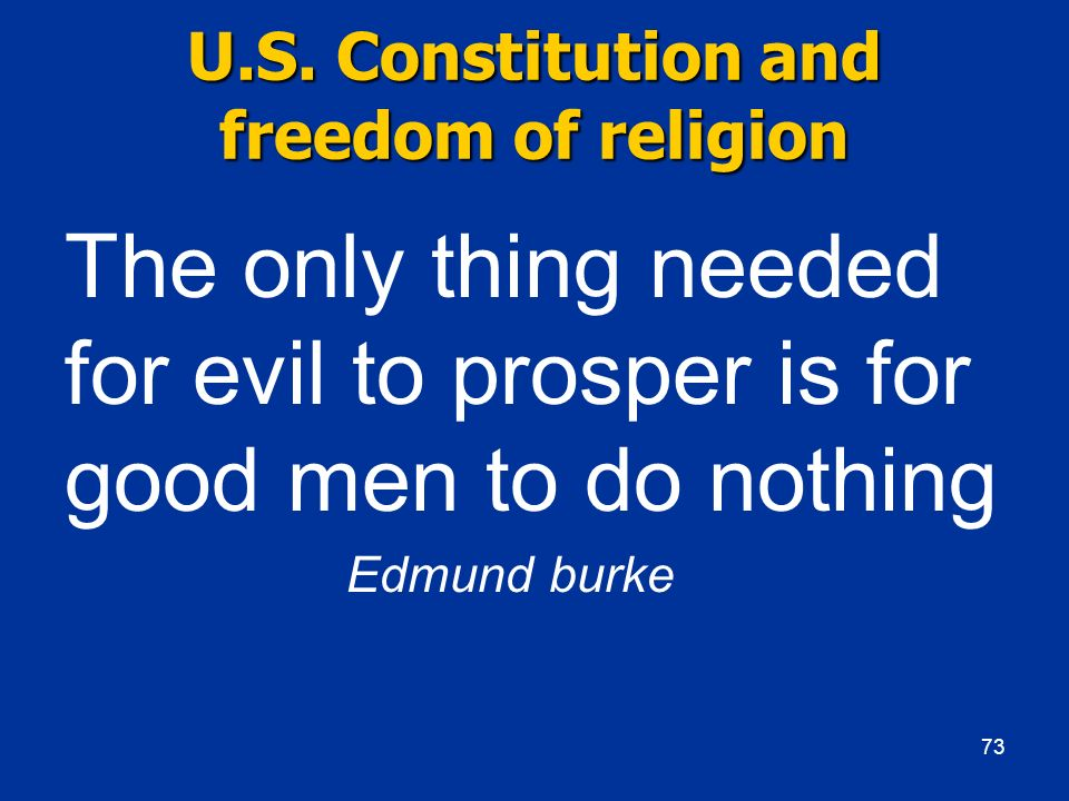 U.S. Constitution and freedom of religion