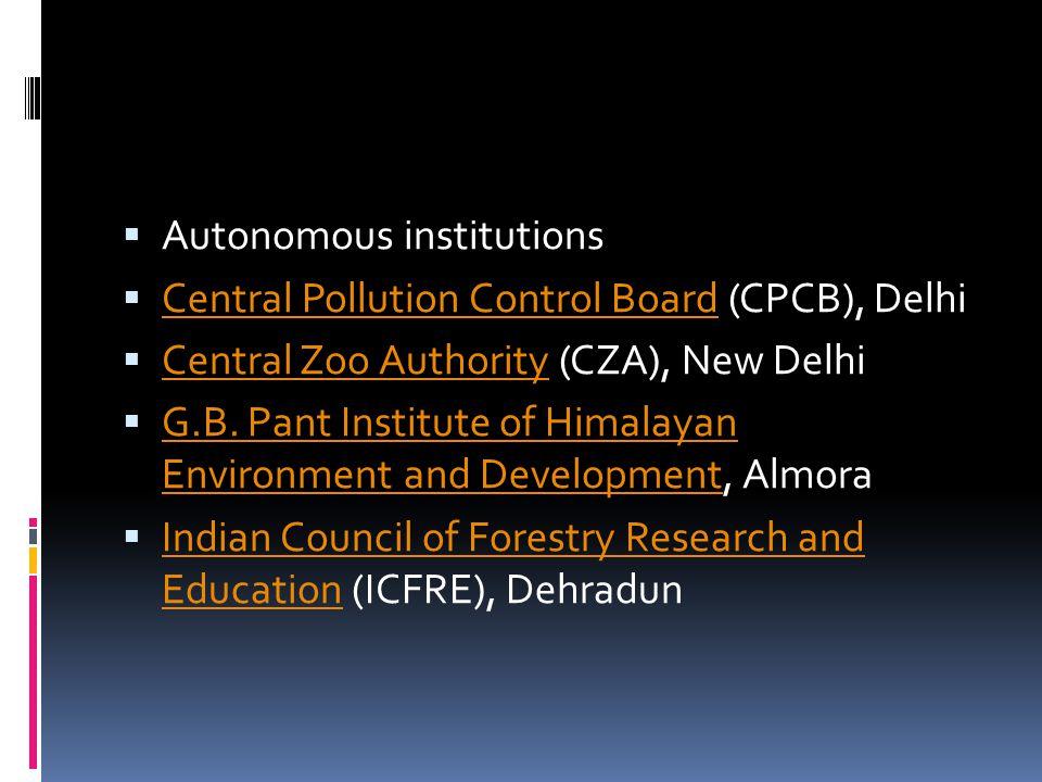 Autonomous institutions