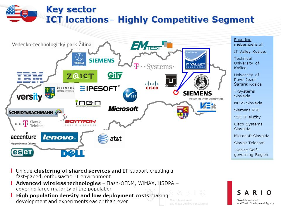Key sector ICT locations– Highly Competitive Segment