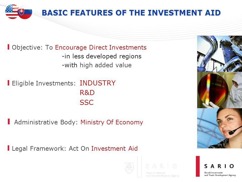 BASIC FEATURES OF THE INVESTMENT AID