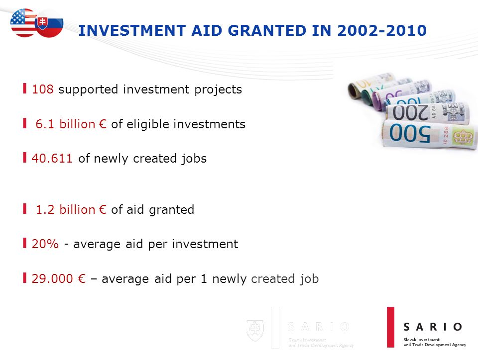 INVESTMENT AID GRANTED IN 2002-2010
