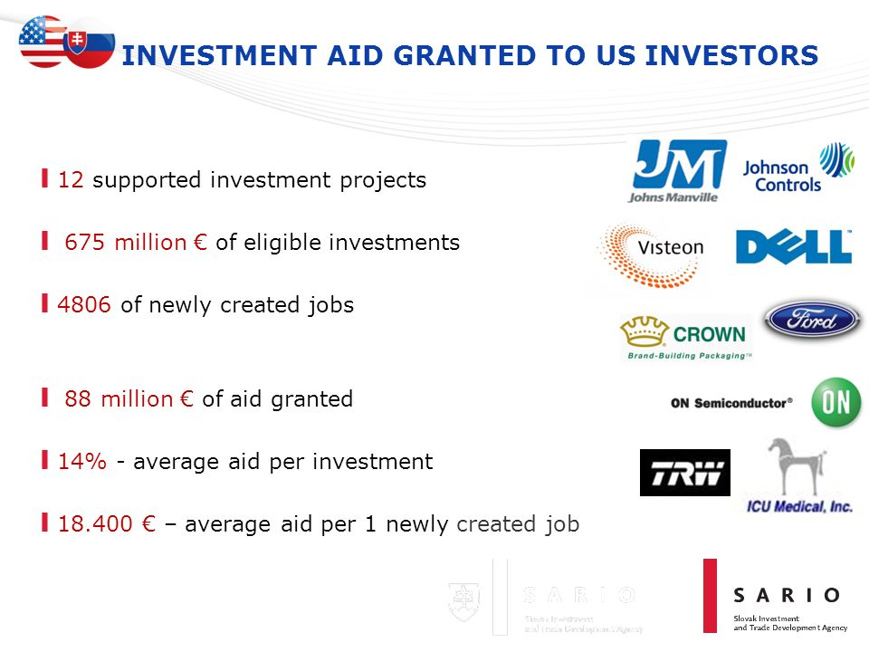 INVESTMENT AID GRANTED TO US INVESTORS