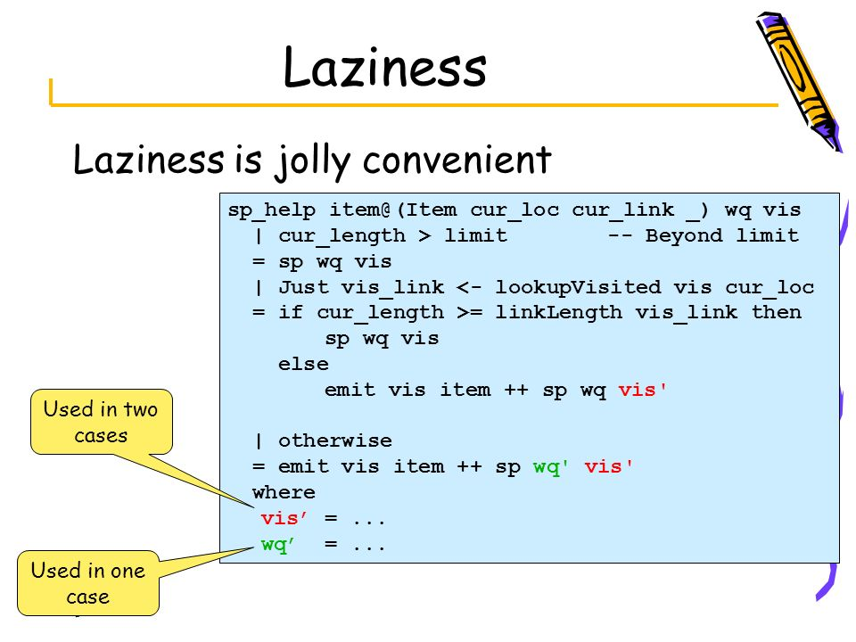 Laziness Laziness is jolly convenient