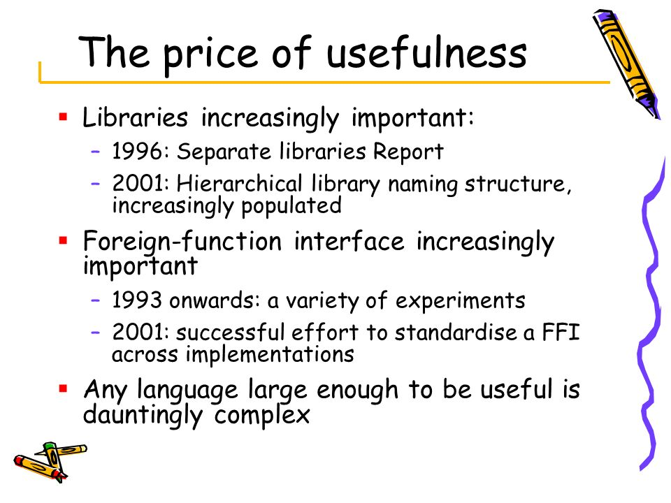 The price of usefulness