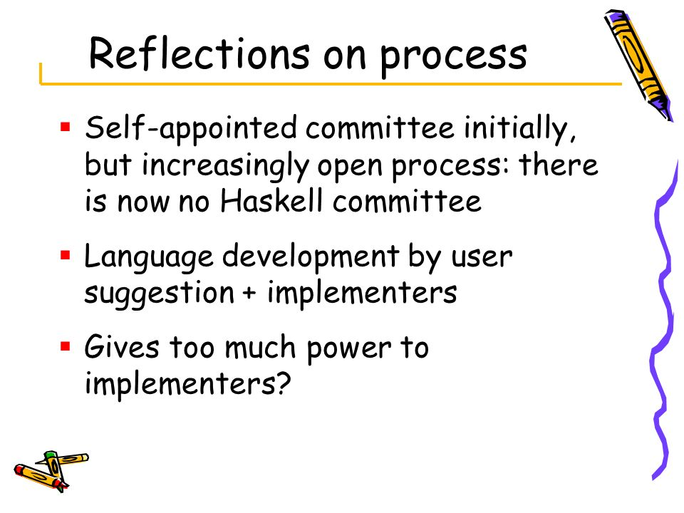 Reflections on process