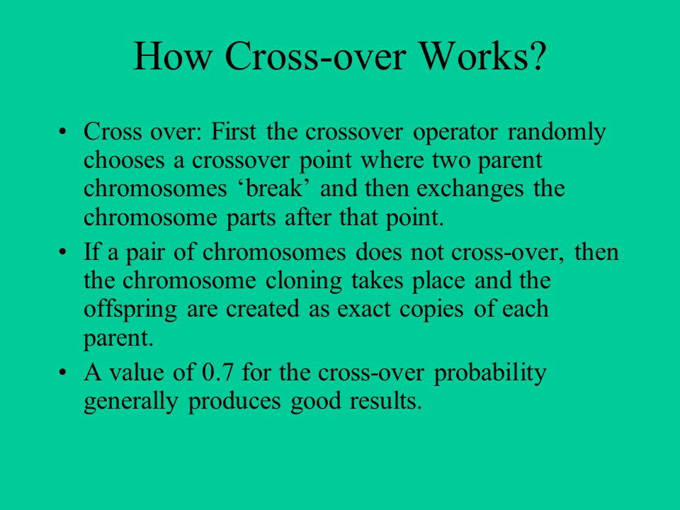 How Cross-over Works