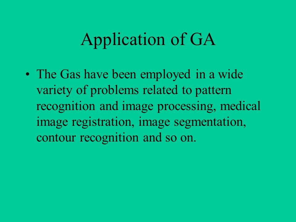 Application of GA