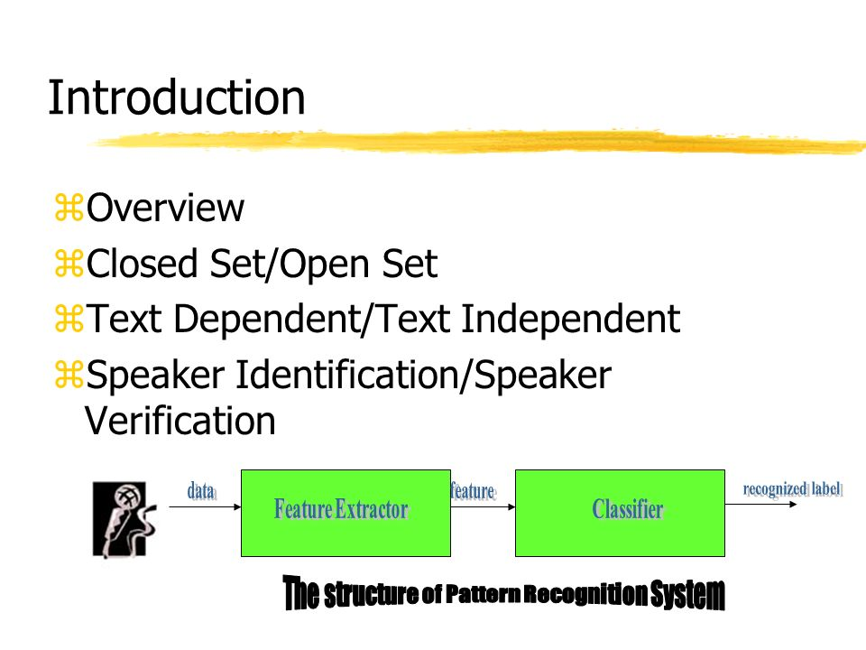 The structure of Pattern Recognition System