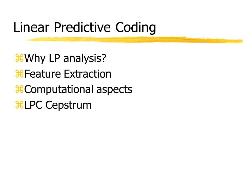 Linear Predictive Coding