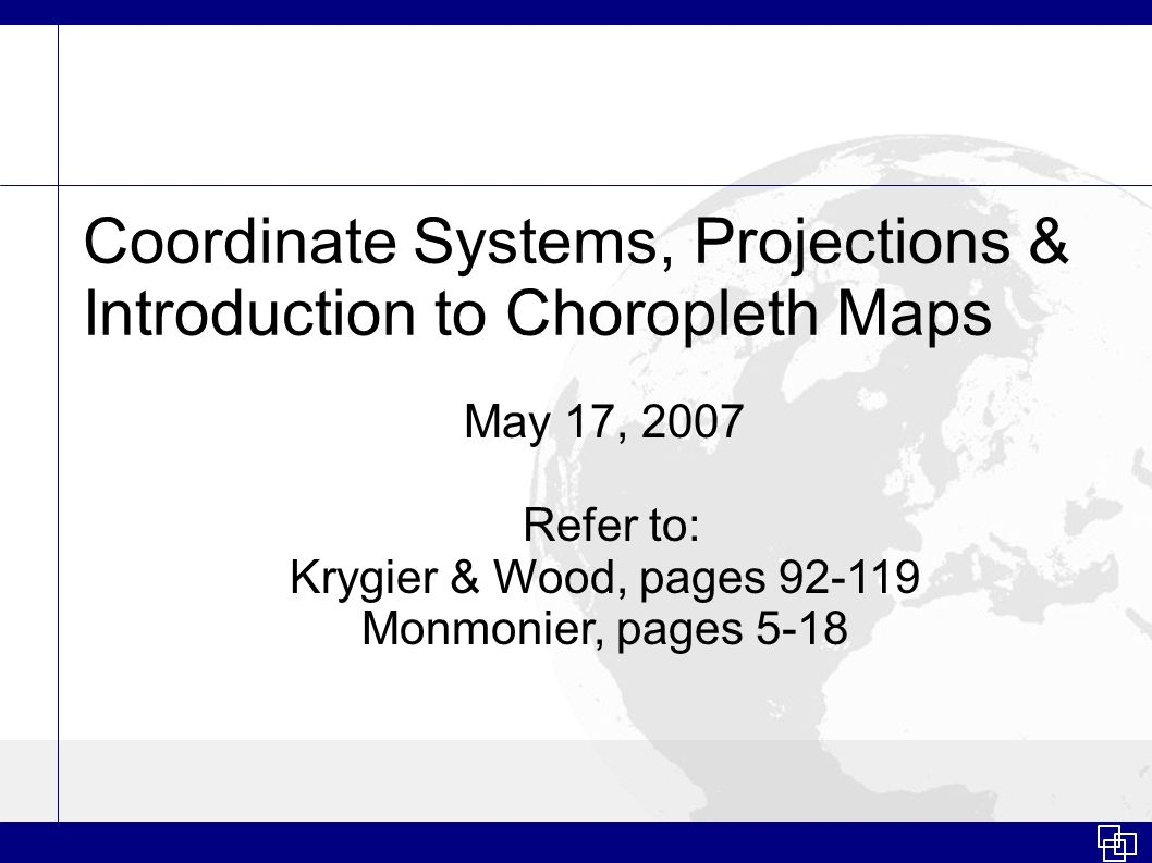 Coordinate Systems, Projections & Introduction to Choropleth Maps