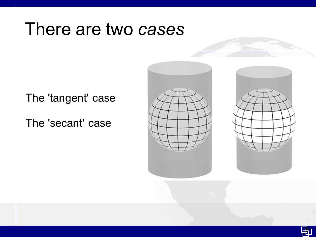 There are two cases The tangent case The secant case