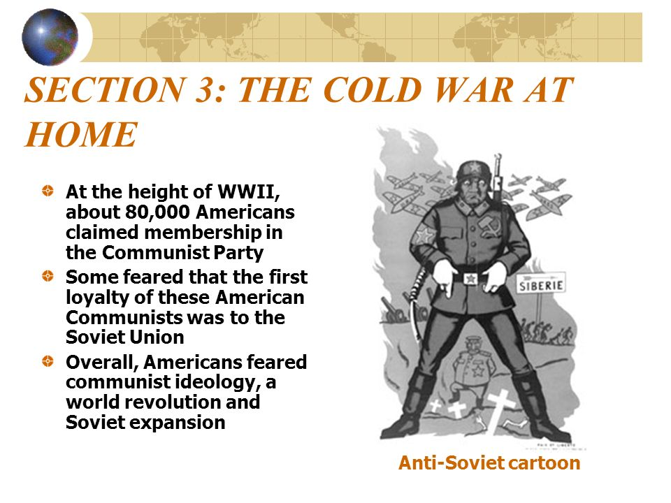 SECTION 3: THE COLD WAR AT HOME