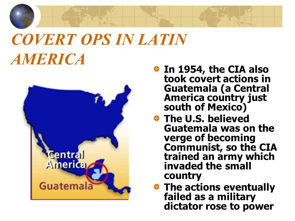 COVERT OPS IN LATIN AMERICA