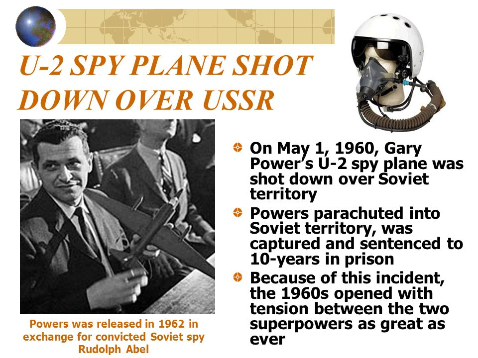 U-2 SPY PLANE SHOT DOWN OVER USSR