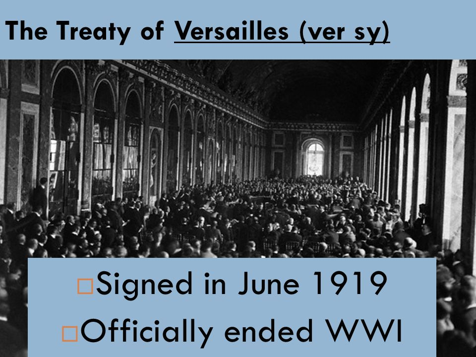 The Treaty of Versailles (ver sy)