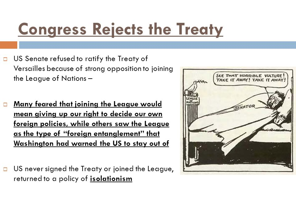Congress Rejects the Treaty