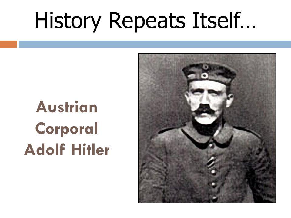 Austrian Corporal Adolf Hitler