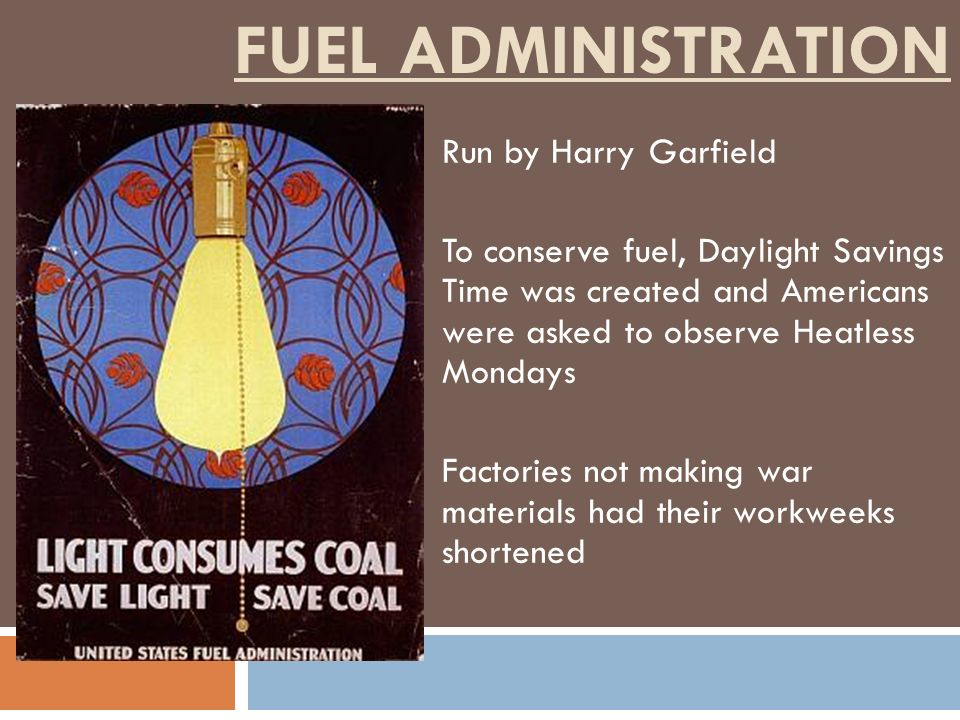 Fuel Administration Run by Harry Garfield
