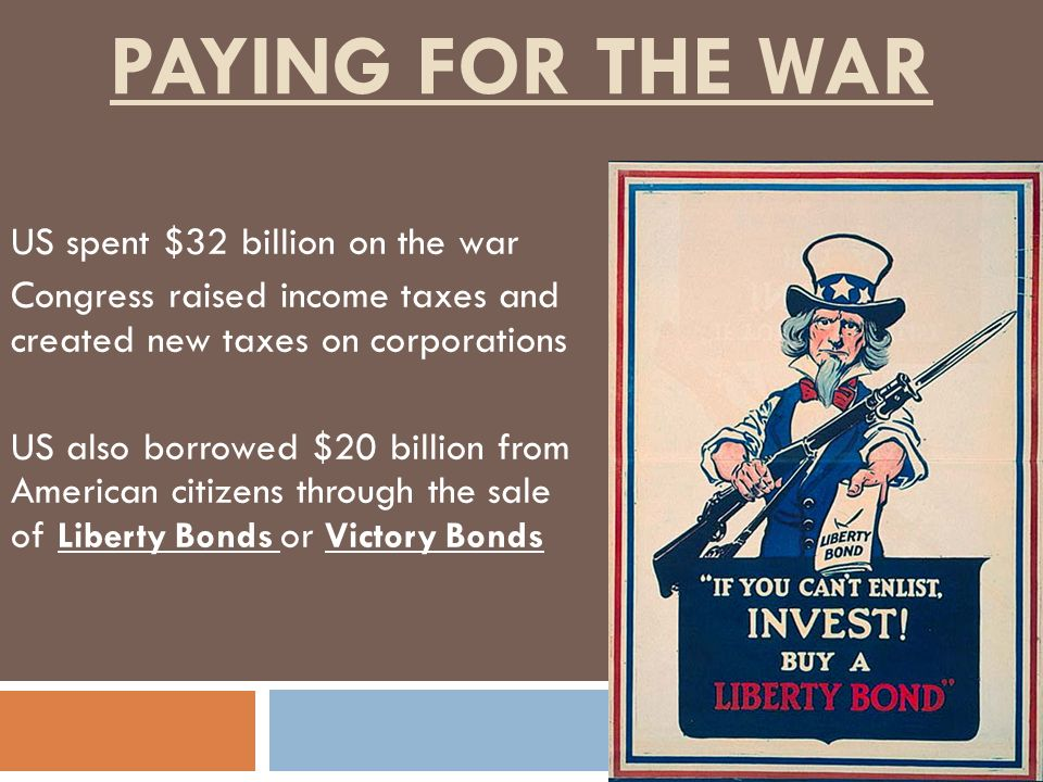 Paying for the War US spent $32 billion on the war