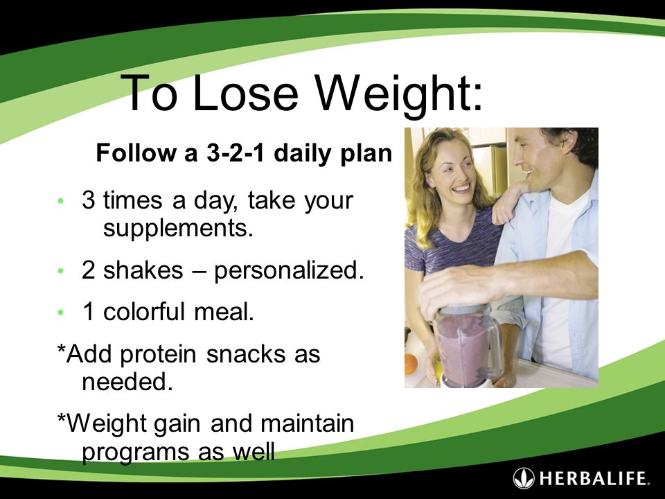 To Lose Weight: Follow a 3-2-1 daily plan