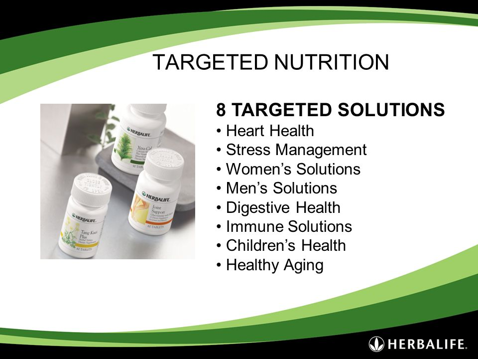 TARGETED NUTRITION 8 TARGETED SOLUTIONS Heart Health Stress Management