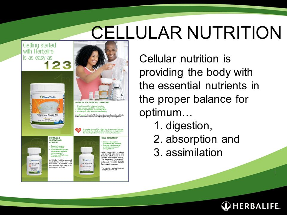 Employee Meeting - 2007 3/25/2017. CELLULAR NUTRITION.
