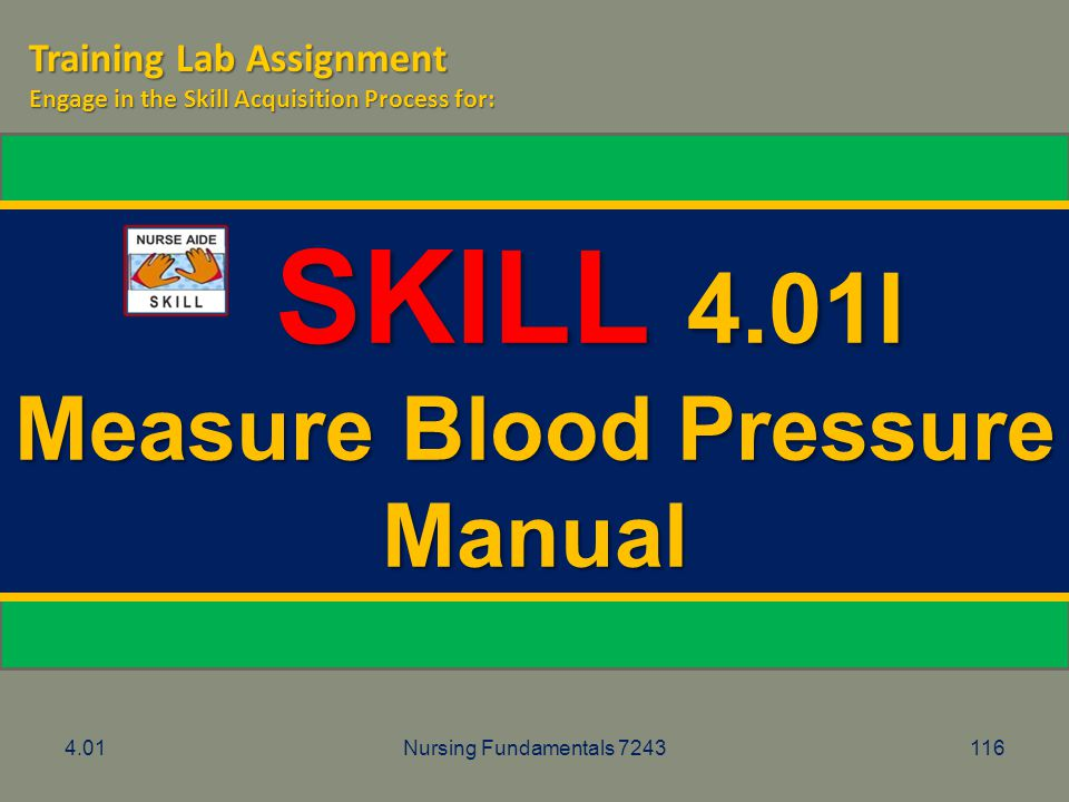 Measure Blood Pressure Manual