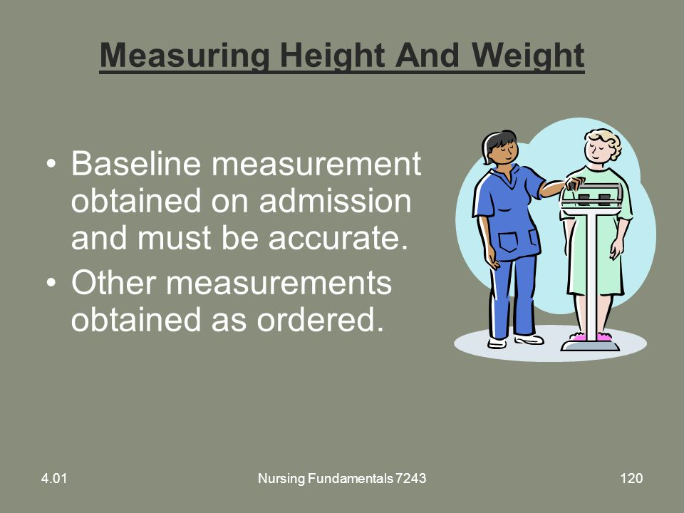 Measuring Height And Weight