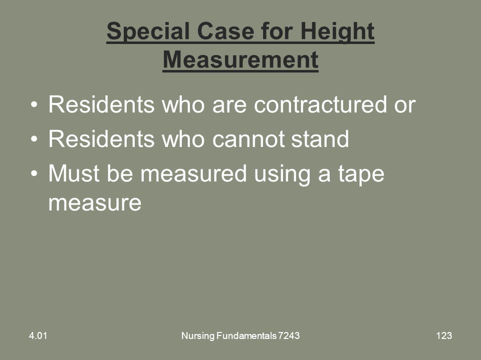 Special Case for Height Measurement