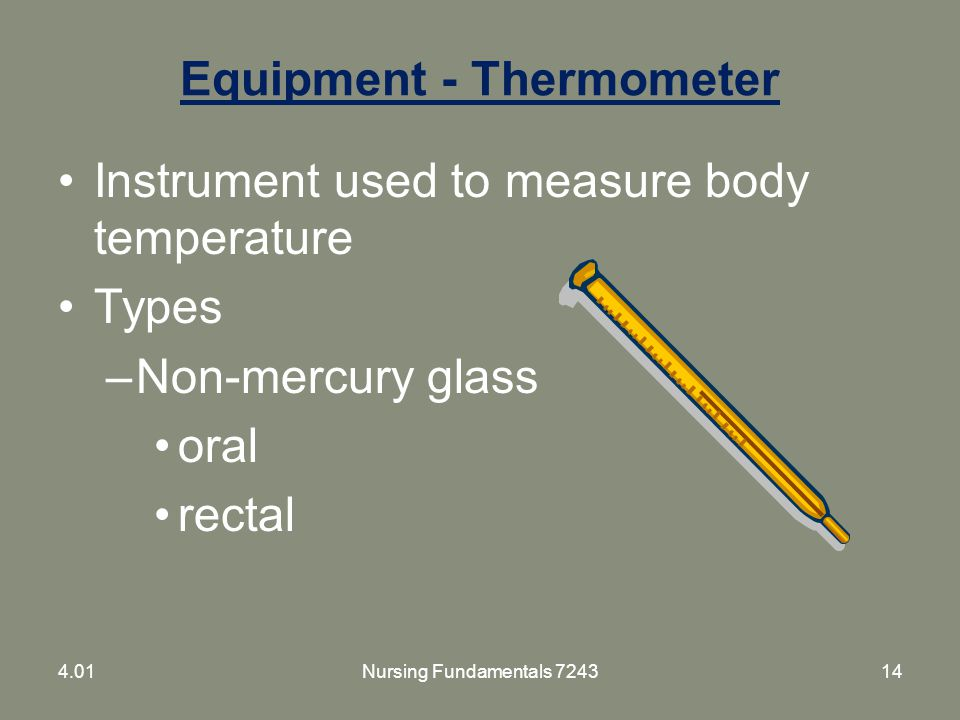 Equipment - Thermometer