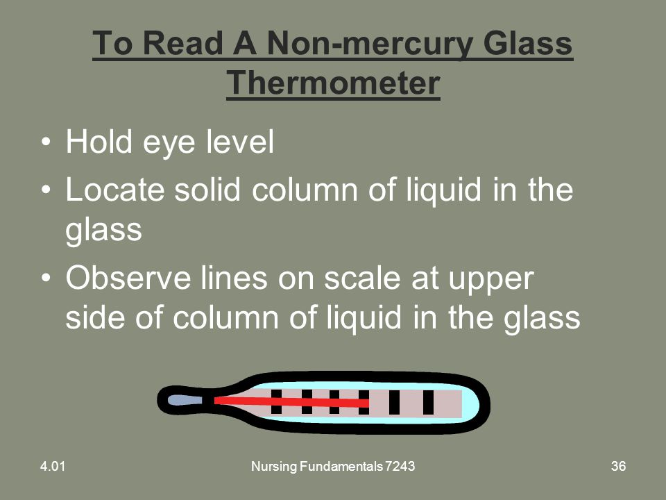 To Read A Non-mercury Glass Thermometer