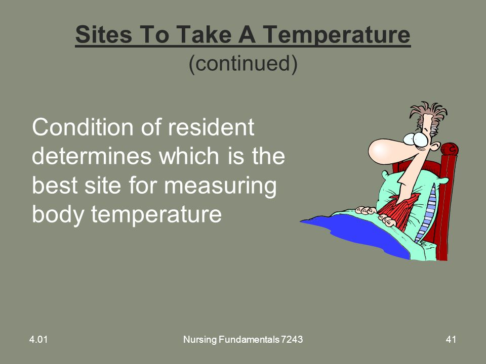Sites To Take A Temperature (continued)