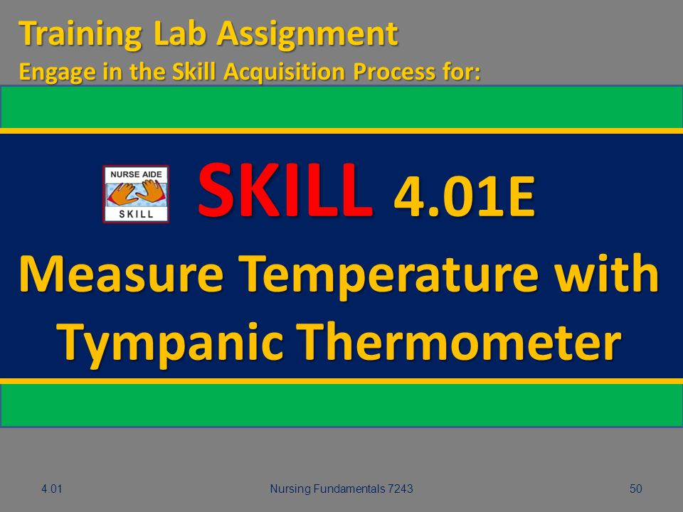 Measure Temperature with Tympanic Thermometer