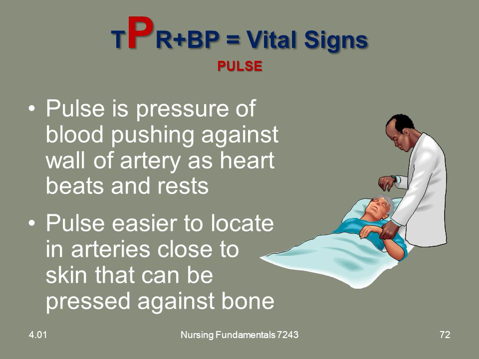 TPR+BP = Vital Signs PULSE