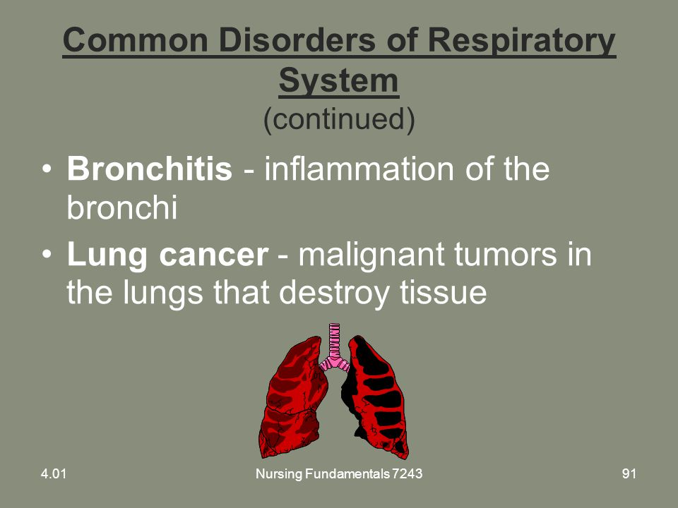 Common Disorders of Respiratory System (continued)