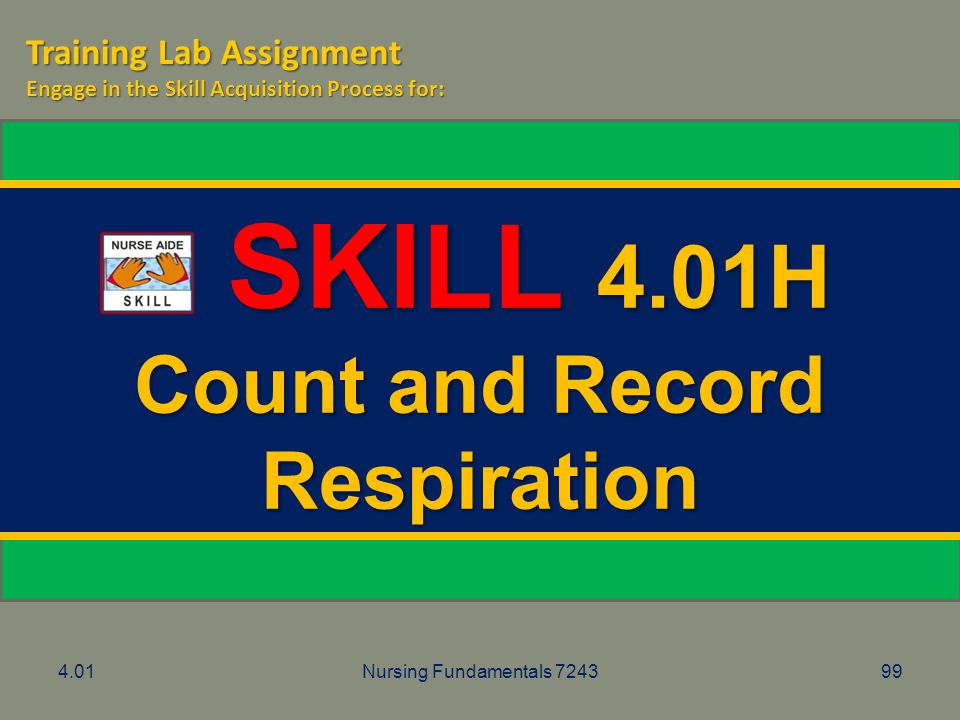 Count and Record Respiration