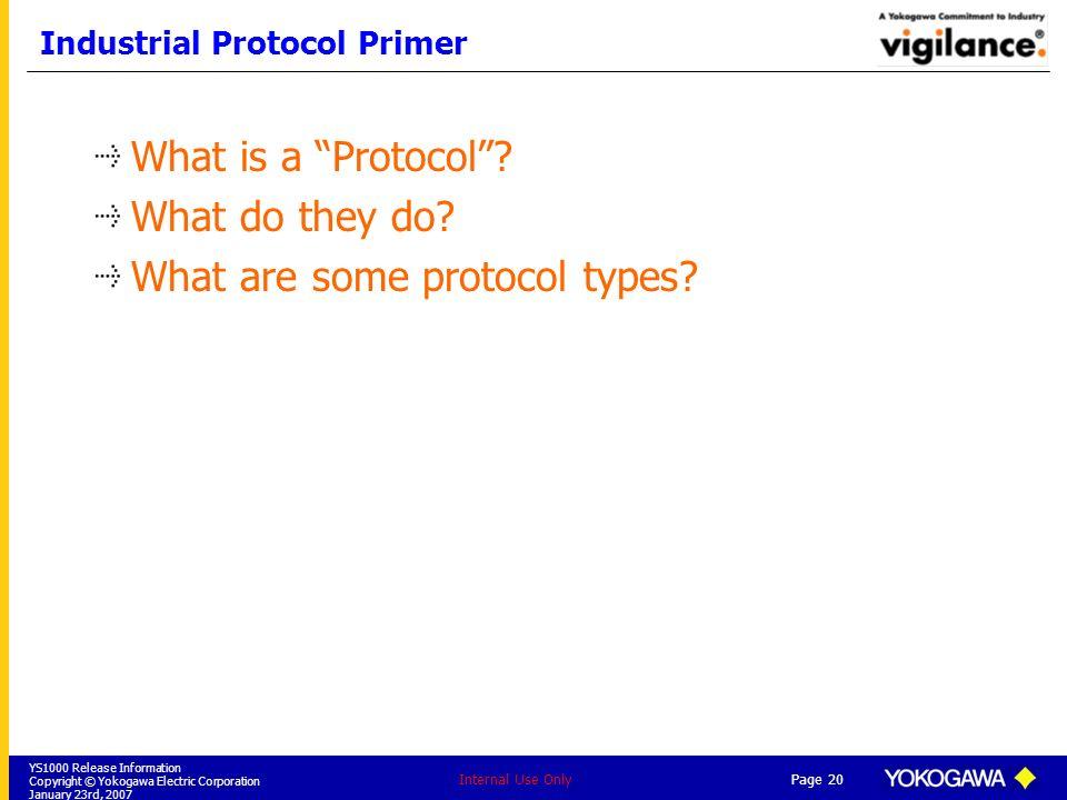 Industrial Protocol Primer