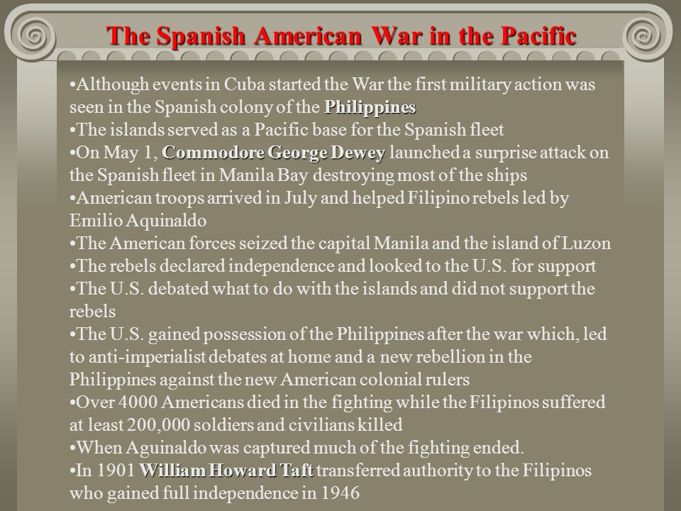 filipinos attempts to gain independence that led to war The fateful year 1898: the united states becomes an imperial power the great debate over american overseas expansion by john ries and mark weber.