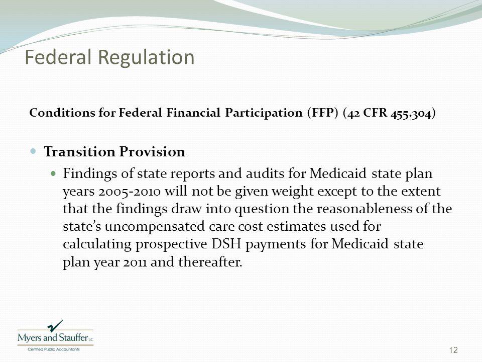 Federal Regulation Transition Provision