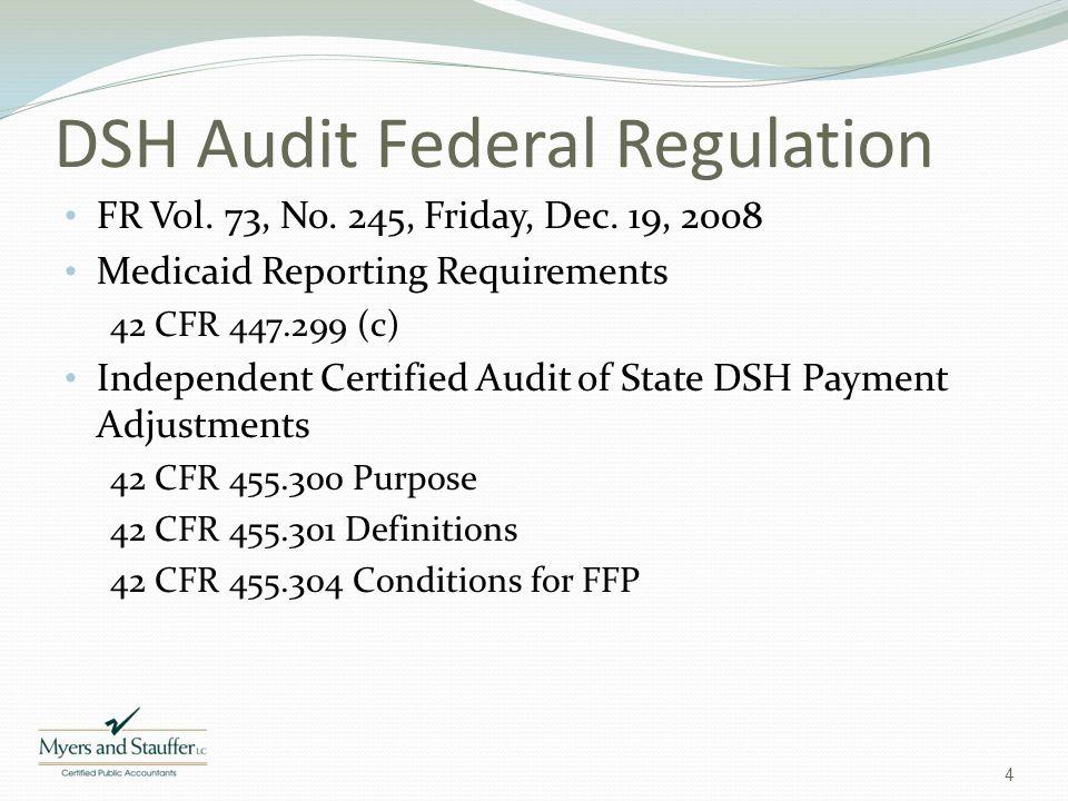 DSH Audit Federal Regulation