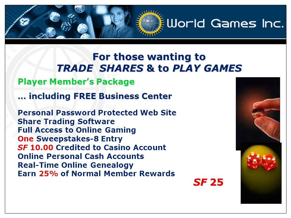 For those wanting to TRADE SHARES & to PLAY GAMES