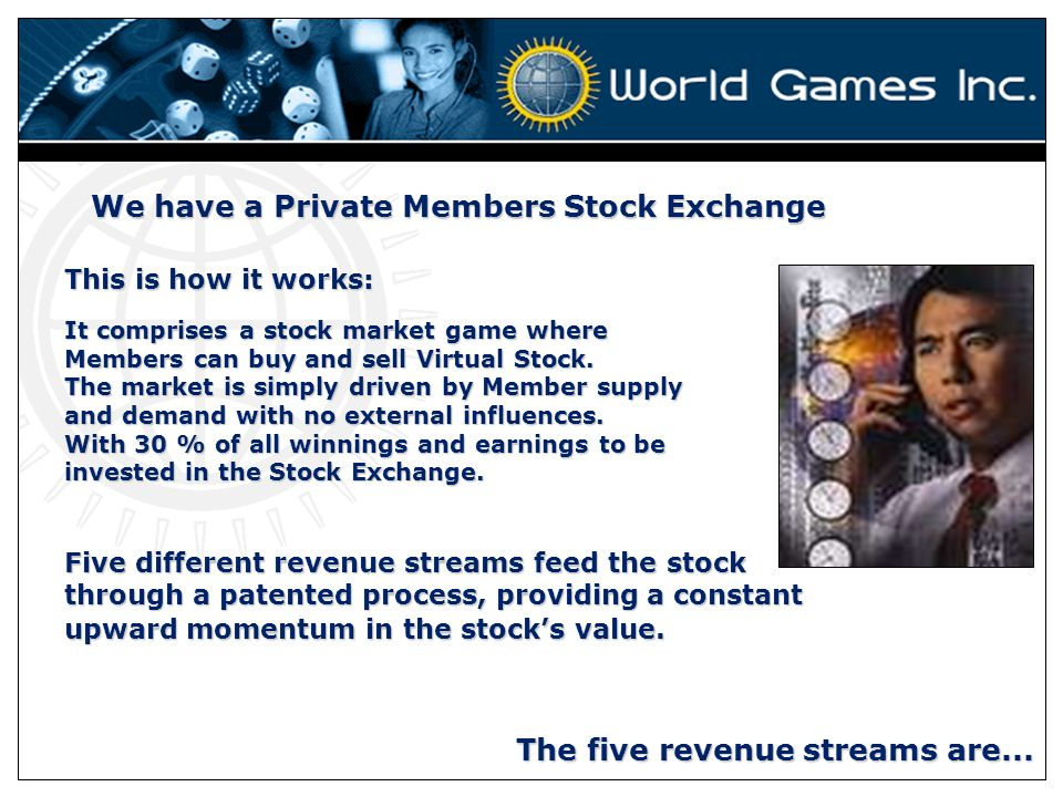 We have a Private Members Stock Exchange